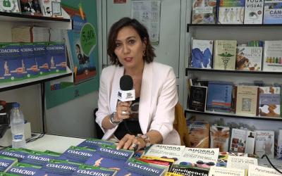 Beatriz de la Iglesia, autora del GuíaBurros: Coaching, entrevistada durante la FLM18